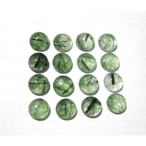 Epidoto redondo cabochão 15x15 mm
