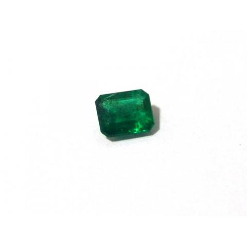 Esmeralda - Retangular Facetada 6x5 mm