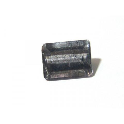 Quartzo Grafitado Retangular Facetado 15x20 mm