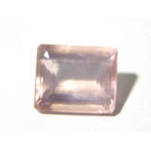 Quartzo Rosa Retangular Facetada 20x16.60 mm