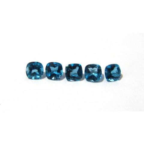 Topázio Azul London Blue Antique 7 mm