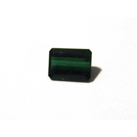 Turmalina Verde - Retangular Facetada 12x9 mm