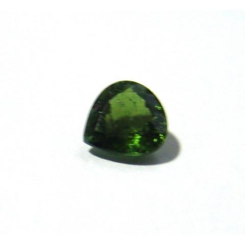 Turmalina Verde - Gota Facetada 10x9 mm