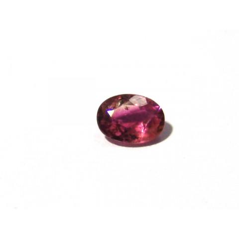 Turmalina Rosa Oval Facetada 8x6 mm