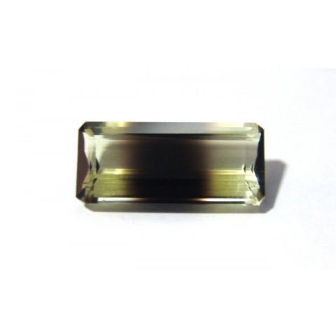 Green Gold Bicolor Retangular Facetada 29x13 mm