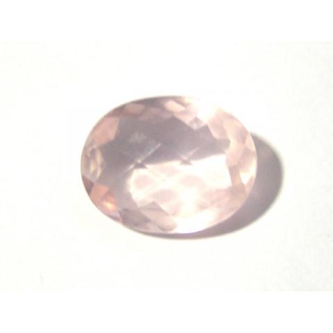 Quartzo Rosa Oval Facetada 24.50x19 mm