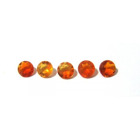 Opala de Fogo -Redonda Facetado 6 mm