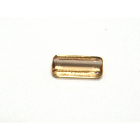 Topazio imperial  Retangular Facetada 10x4 mm