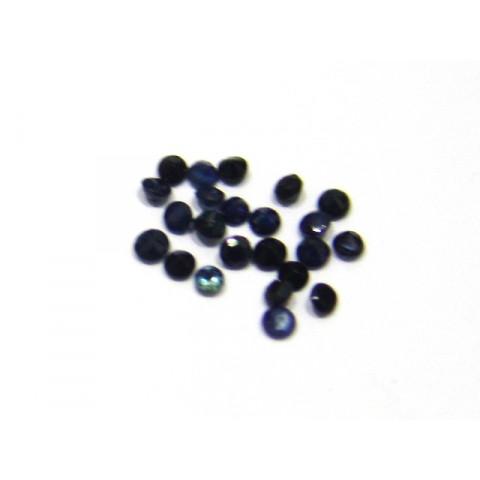 Safira azul redonda Facetada  2 mm