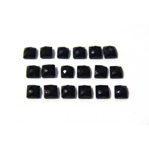 Ágata Negra Carrê Briolet 5 mm