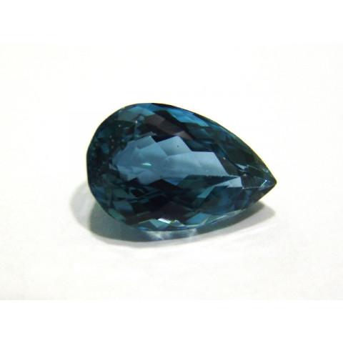Topázio Azul London - Gota Facetado 19.60x12.50 mm