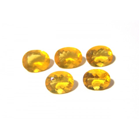 Opala de Fogo - Oval Facetado 13x10 mm