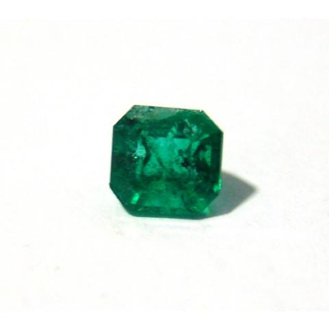 Esmeralda - Retangular Facetada 6.60x6.30 mm