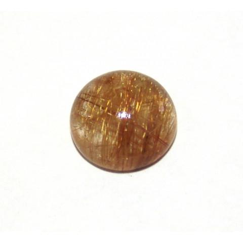 Quartzo Rutilado Redondo Cabochão 17 mm