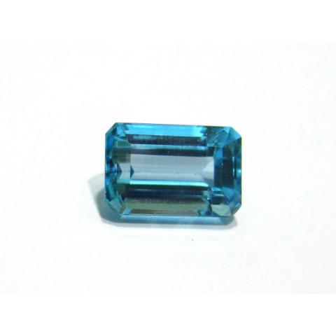Topázio Azul London - Retangular Facetado 14.40x9.50 mm
