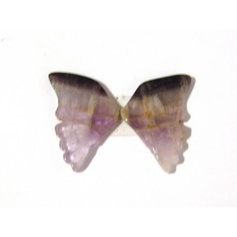 Ametista Cacoxenita, Asa de Borboleta Par 30x40 mm