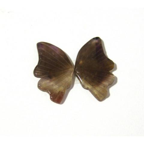 Ametista Cacoxenita, Asa de Borboleta Par 38x31 mm