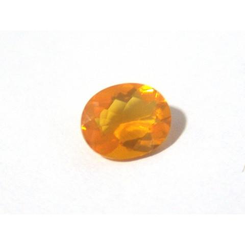 Opala de Fogo - Oval Facetada 11x9 mm