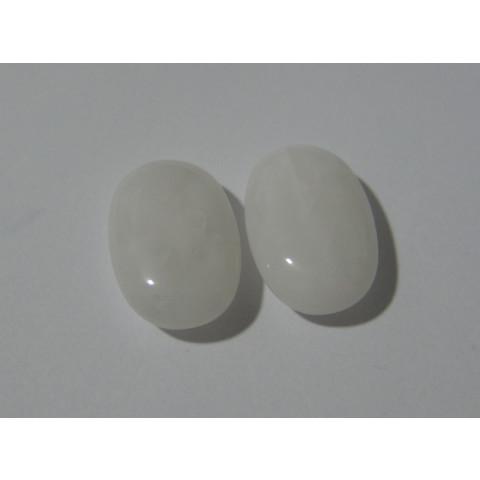 Quartzo Branco Oval Cabochão 30x20 mm