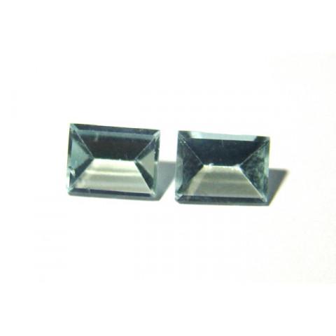 Prasiolita - Retangular Lapidação Espelho 10x7 mm