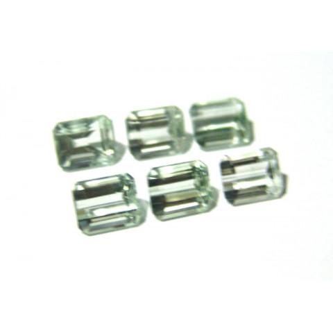 Prasiolita - Retangular Facetada 10x8 mm