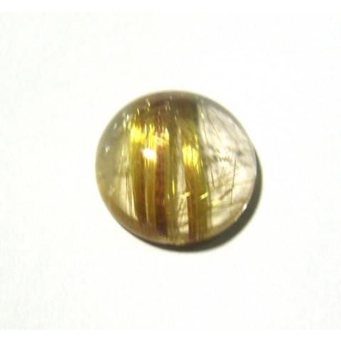 Quartzo rutilado redondo cabochão 16 mm