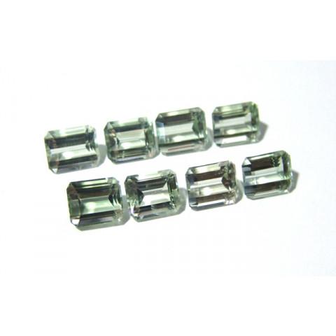 Prasiolita - Retangular Facetada 12x10 mm