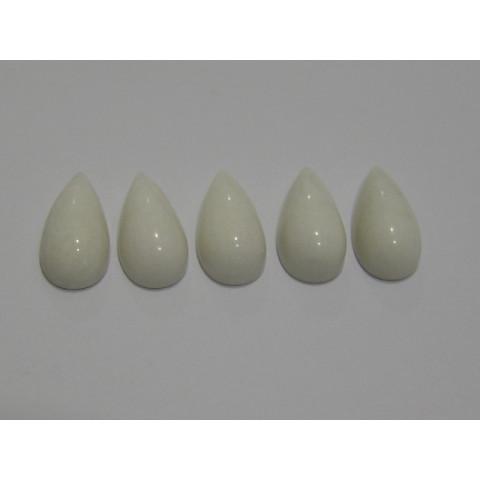 Quartzo Branco Gota Cabochão 10x20 mm