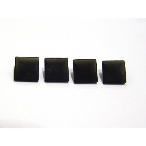 Obsidiana Negra - Carrê Facetado Piramidal 8.0 mm