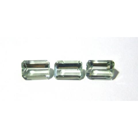 Prasiolita - Retangular Facetada 9x13x6.50 mm