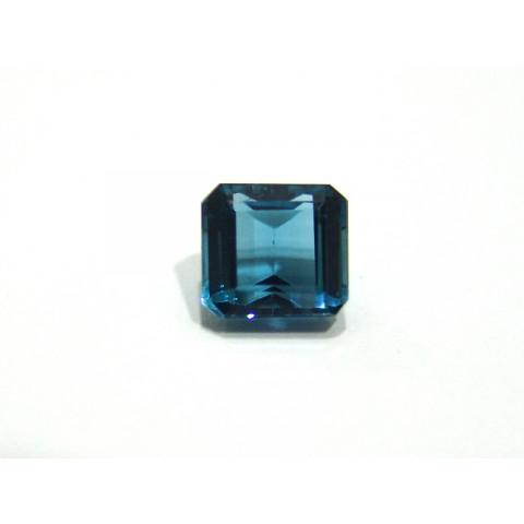 Topázio Azul London Blue - Retangular Facetado 10x9 mm