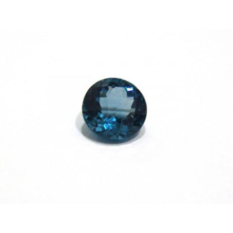 Topázio London Blue - Redondo Facetado 12 mm