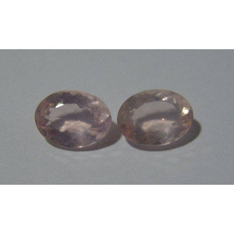 Quartzo Rosa Oval Facetada 19x14 mm
