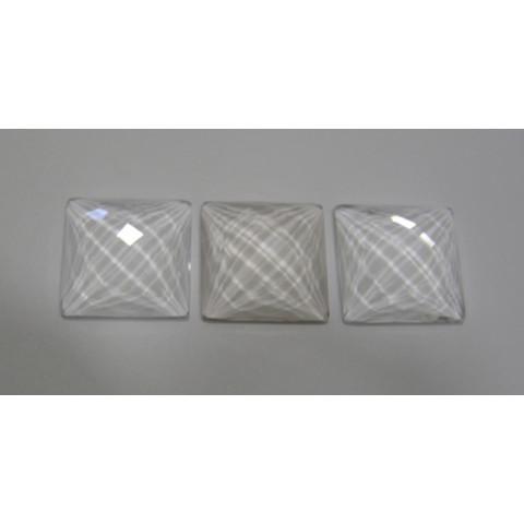 Cristal Carrê Briolet dupla Face 25  mm
