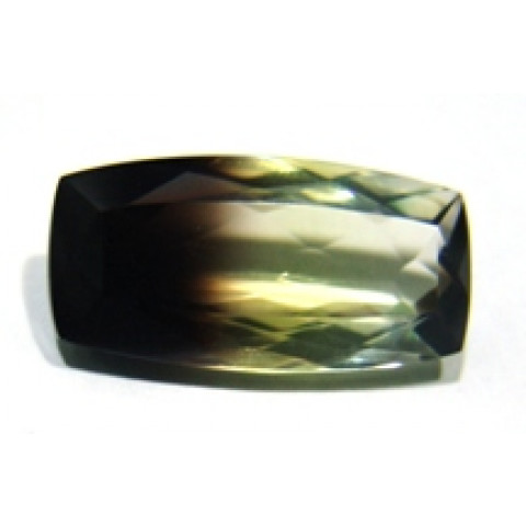 Green Gold Bicolor Antique Facetado 28x14 mm