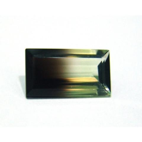 Green Gold Bicolor - Retangular Facetado 21.50x11 mm