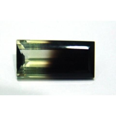 Green Gold Bicolor - Retangular Facetado 23x11 mm
