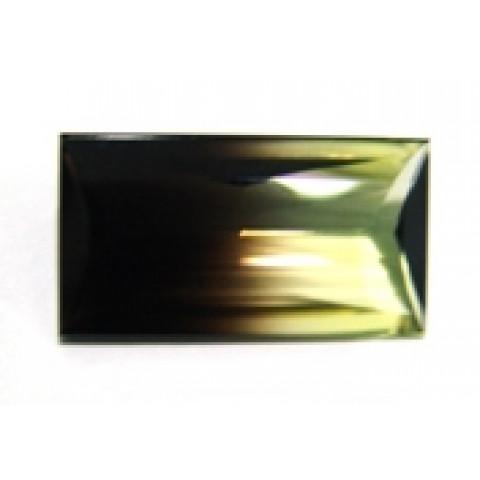 Green Gold Bicolor - Retangular Facetado 28x15 mm