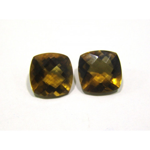 Green Gold Conhaque - Checker Board Antique briolet 12 mm