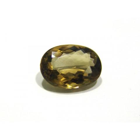 Green Gold Conhaque - Oval Facetado 19.0x13.50 mm