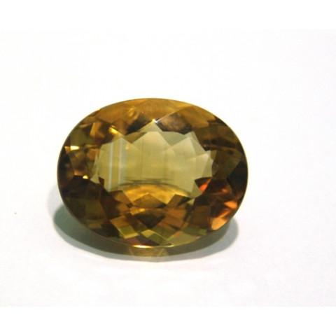 Green Gold Conhaque - Oval Facetado 22x17 mm