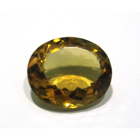 Green Gold Conhaque - Oval Facetado 25.50x21.50 mm