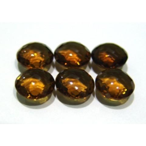Green Gold Conhaque  Redondo Facetado 12x12x7 mm