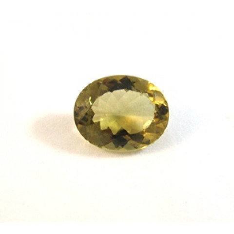 Green Gold Facetado Oval 25x20 mm
