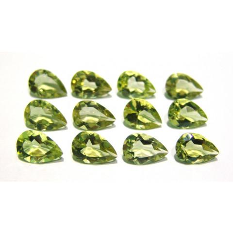 Green Gold Gota Facetada  15x10 mm