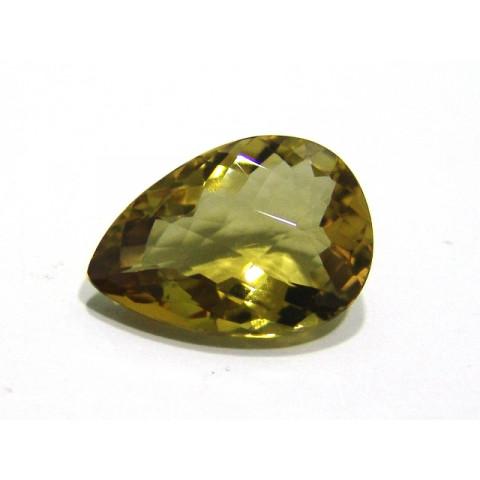 Green Gold Gota Facetado 24x17 mm