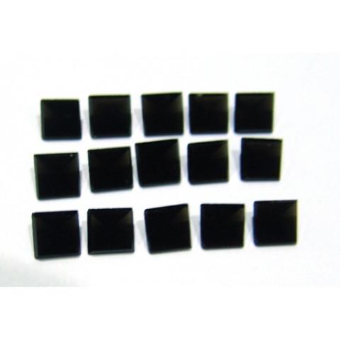 Obsidiana Negra - Carrê Facetado Piramidal 8x8 mm