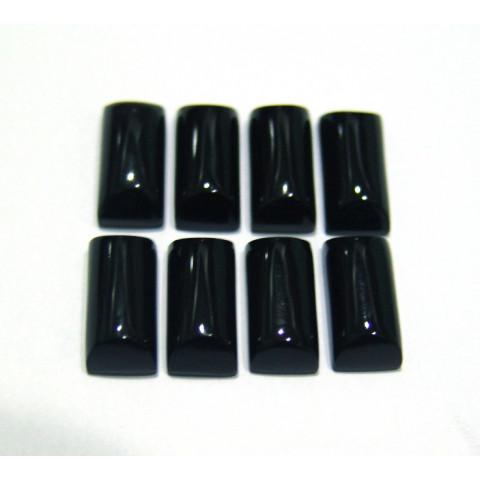 Obsidiana Negra Retangular Cabochão 16x8 mm