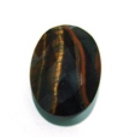 Olho de Tigre  Oval Facetado 25x18 mm