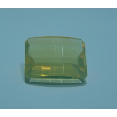Opala de Fogo Retangular Lapidação Pós Barra 16x12 mm